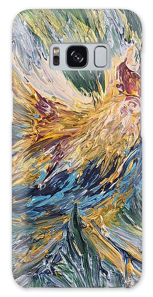 Abstract Guam Rooster Galaxy Case