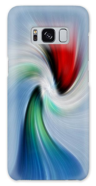Abstract Rose In A Vase Galaxy Case by Linda Phelps