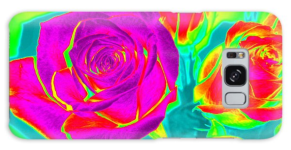 Abstract Roses Galaxy Case by Karen J Shine