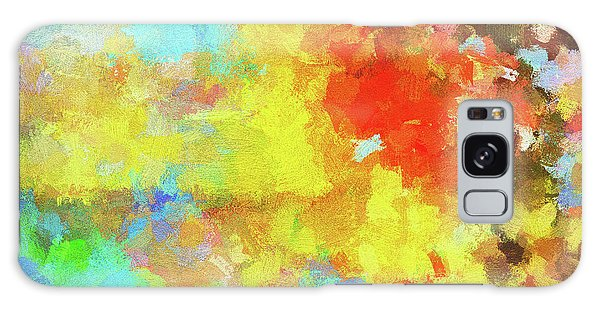 Abstract Seascape Painting With Vivid Colors Galaxy Case by Ayse Deniz