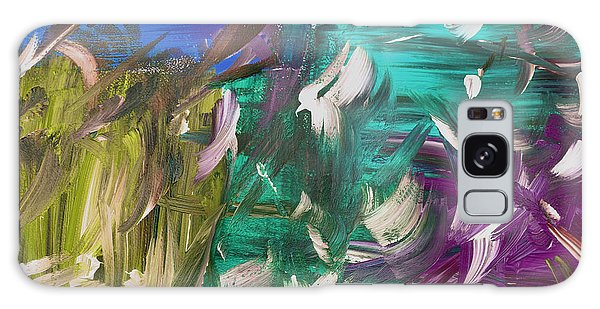 Galaxy Case featuring the painting Abstract Series E1015bl by Mas Art Studio