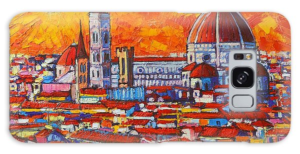 Abstract Sunset Over Duomo In Florence Italy Galaxy Case