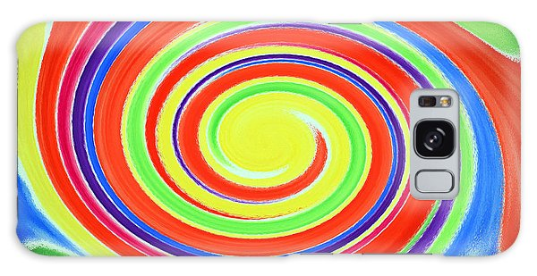 Galaxy Case featuring the painting Abstract Swirl A1 1215 by Mas Art Studio