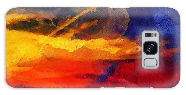 Abstract - Throw  Galaxy Case by Sir Josef - Social Critic -  Maha Art