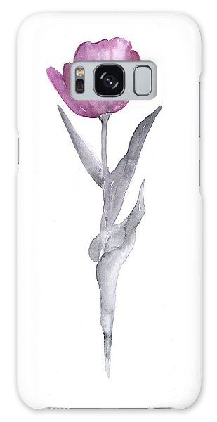 Tulip Galaxy S8 Case - Abstract Tulip Flower Watercolor Painting by Joanna Szmerdt