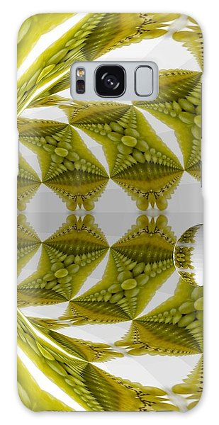 Abstract Tunnel Of Yellow Grapes  Galaxy Case