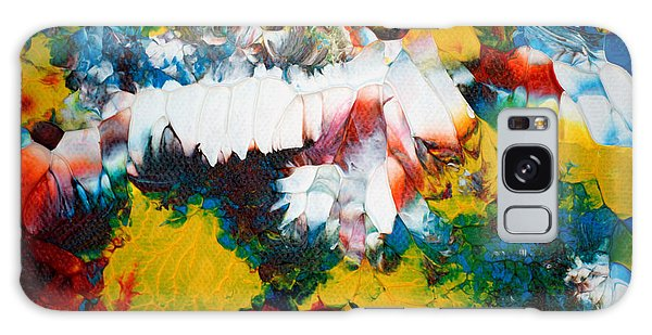 Galaxy Case featuring the painting Abstract U1112a by Mas Art Studio