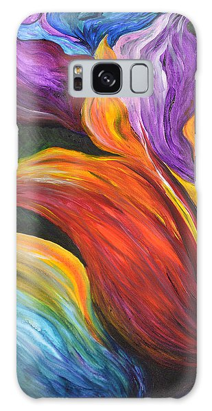 Abstract Vibrant Flowers Galaxy Case