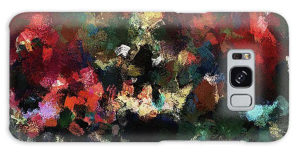 Abstract Wall Art In Dark Colors Galaxy Case by Ayse Deniz