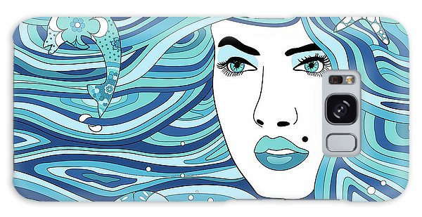 Abstract Water Element Galaxy Case by Serena King