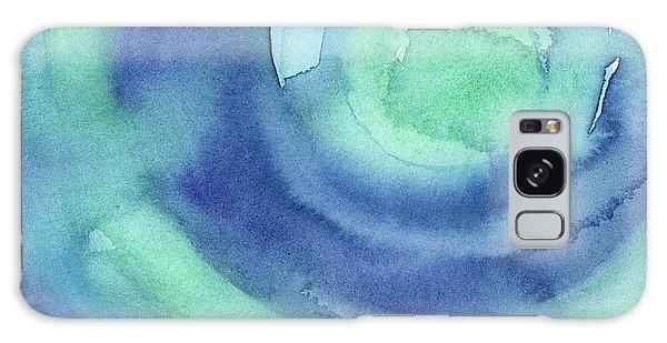 Texture Galaxy Case - Abstract Watercolor Aqua Blues by Olga Shvartsur