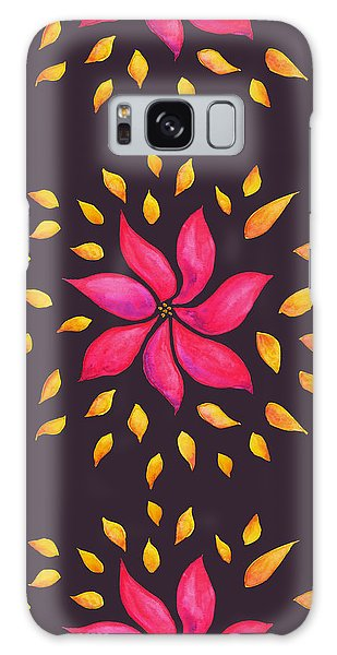 Abstract Whimsical Watercolor Pink Flower Galaxy Case