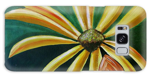 Abstract Yellow Sunflower Art Floral Painting Galaxy Case