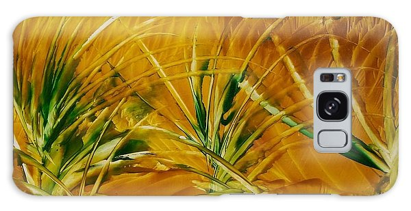 Abstract Yellow, Green Fields   Galaxy Case