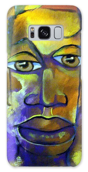 Abstract Young Man Galaxy Case