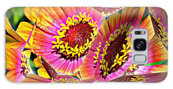 Abstract Yellow Flame Zinnia Galaxy Case