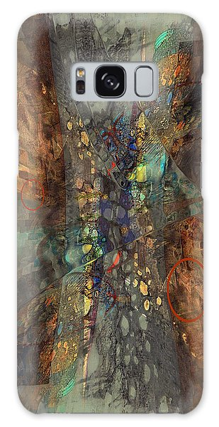 Galaxy Case featuring the digital art Abstracted Extrusion  by Kate Word