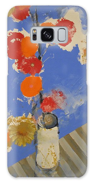 Abstracted Flowers In Ceramic Vase  Galaxy Case