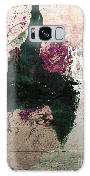 Abstraction White Red Green  Galaxy Case