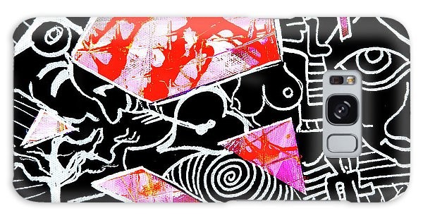 Galaxy Case featuring the painting Abstractions by eVol i