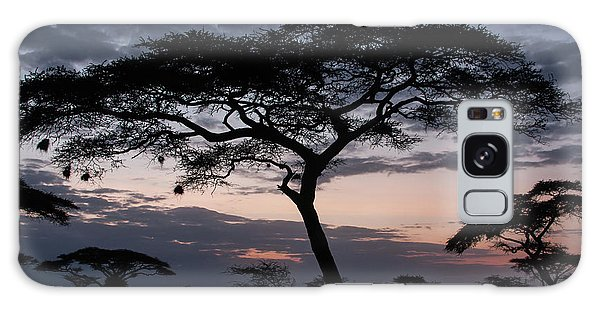 Acacia Trees Sunset Galaxy Case by Chris Scroggins