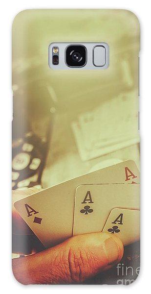 Gamble Galaxy Case - Aces Up The Sleeve by Jorgo Photography - Wall Art Gallery