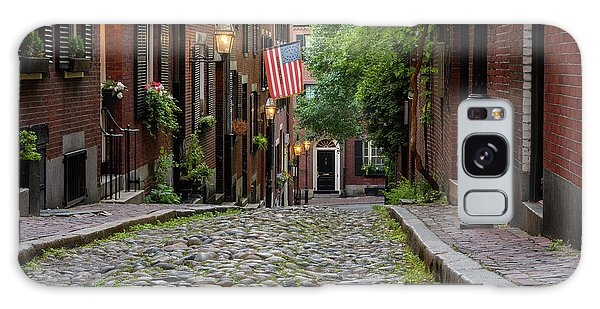 Galaxy Case featuring the photograph Acorn St. Boston Ma. by Michael Hubley