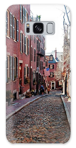Acorn Street Beacon Hill Galaxy Case