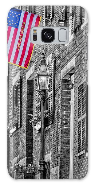Galaxy Case featuring the photograph Acorn Street Details Sc by Susan Candelario