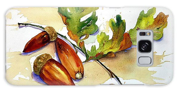 Acorns And Leaves Galaxy Case