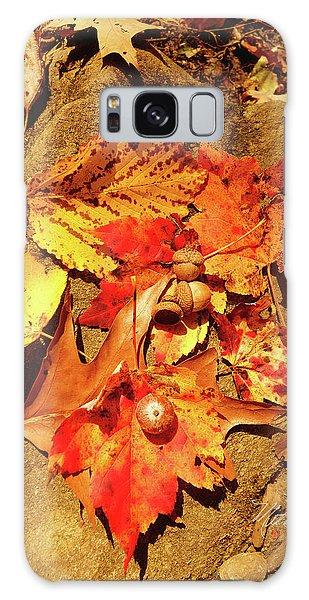 Acorns Fall Maple Leaf Galaxy Case