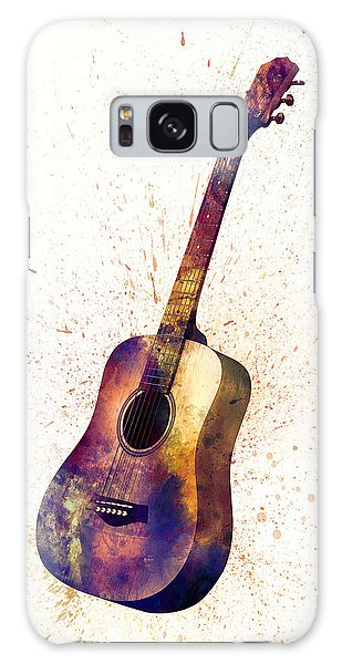 Musical Galaxy Case - Acoustic Guitar Abstract Watercolor by Michael Tompsett