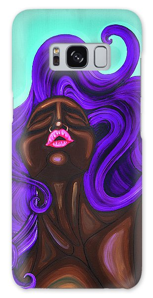 Galaxy Case featuring the painting Acquainted by Aliya Michelle