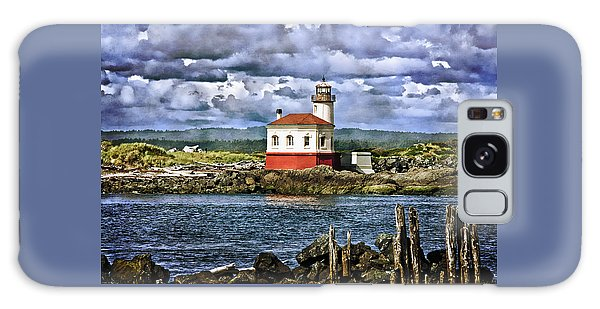 Across From The Coquille River Lighthouse Galaxy Case
