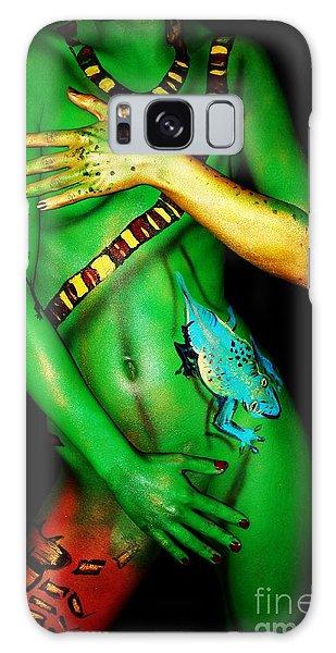 acrylic on FLESH Galaxy Case by Tbone Oliver