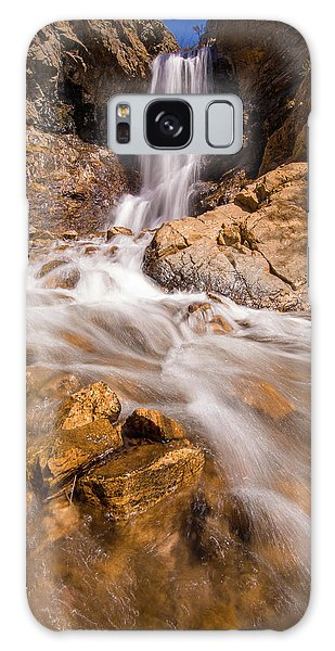 Adams Canyon Waterfall Flow Galaxy Case