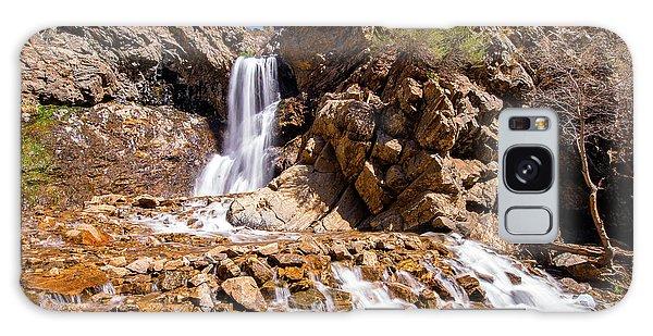 Adams Canyon Waterfall Pano Galaxy Case