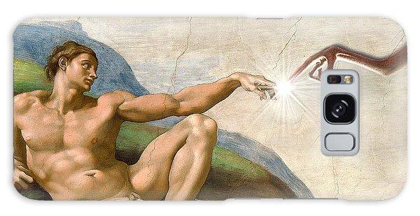Adam's Creation Vrs Et Galaxy Case by Gina Dsgn