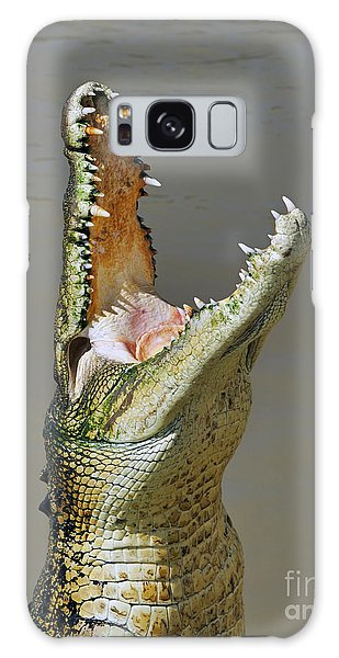 Adelaide River Crocodile Galaxy Case by Bill  Robinson