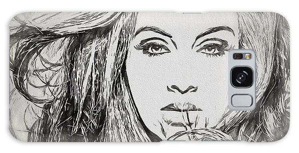 Adele Galaxy S8 Case - Adele Charcoal Sketch by Dan Sproul