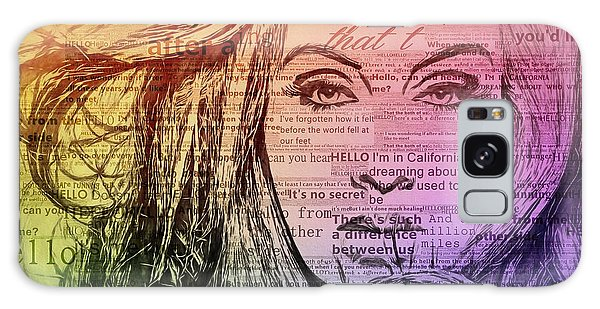 Adele Galaxy S8 Case - Adele Hello Typography  by Dan Sproul