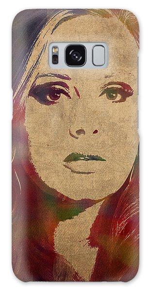 Adele Galaxy S8 Case - Adele Watercolor Portrait by Design Turnpike