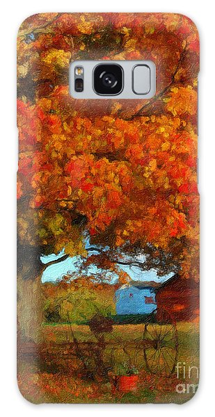 Adirondack Autumn Color Brush Galaxy Case