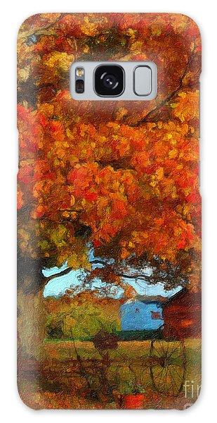 Adirondack Autumn Color Brush Galaxy Case