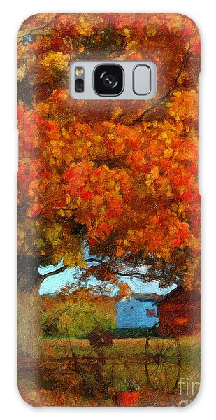 Adirondack Autumn Color Brush Galaxy Case by Diane E Berry