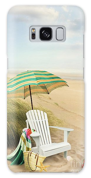 Adirondack Chair And Umbrella By The Seaside Galaxy Case