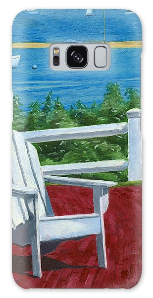 Galaxy Case featuring the drawing Adirondack Chair On Cape Cod by Dominic White