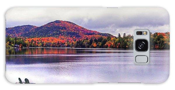 Adirondack Chairs In The Adirondacks. Mirror Lake Lake Placid Ny New York Mountain Galaxy Case