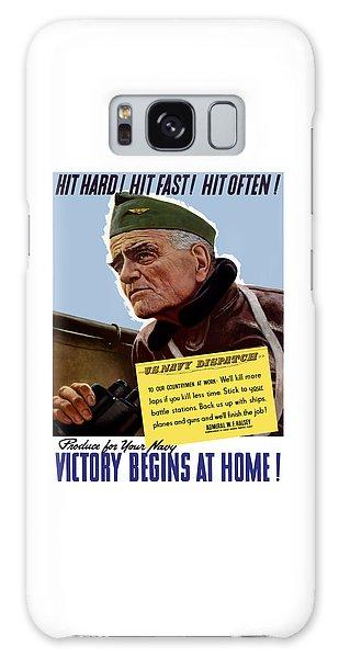 Bull Art Galaxy Case - Admiral William Bull Halsey -- Ww2 Propaganda  by War Is Hell Store