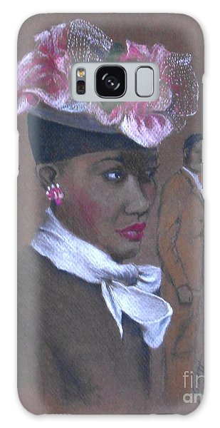 Admirer, 1947 Easter Bonnet -- The Original -- Retro Portrait Of African-american Woman Galaxy Case